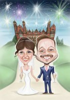 Awedding Caricature